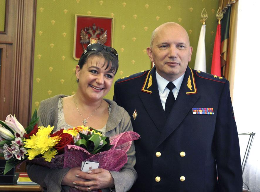 Актриса, являющаяся членом Общественного совета при МВД России, приехала в Челябинск, чтобы приня