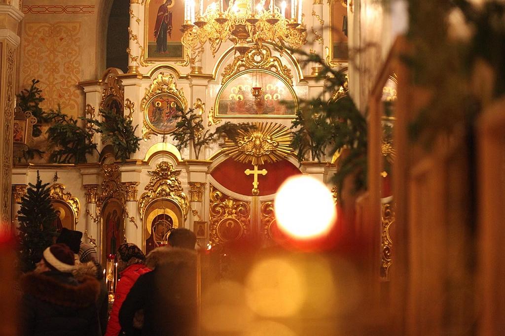 Как рассказали агентству в епархии, божественная литургия совершалась в соединении с великой вече
