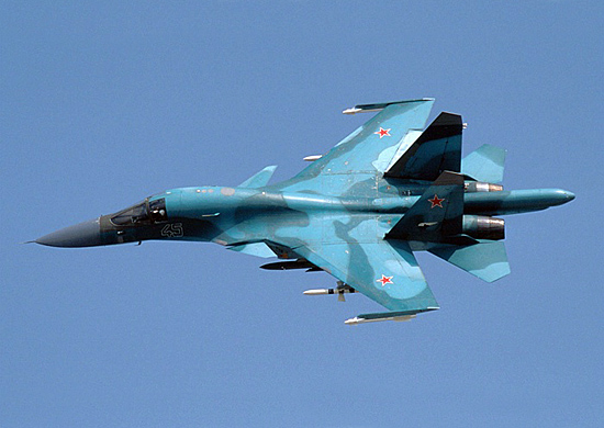 Два новых фронтовых бомбардировщика Су-34 поступили на вооружение второго гвардейского бомбардиро
