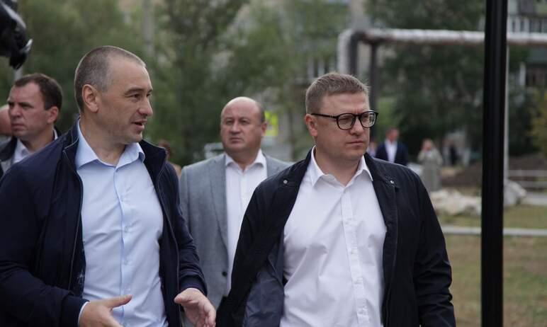 Губернатор Челябинской области Алексей Текслер, посетивший Еманжелинский район с