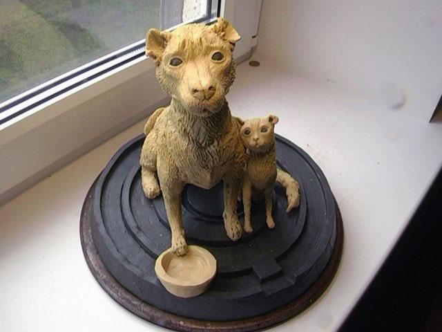 В Магнитогорске (Челябинская область) установят памятник избитой собаке с отрезанными ушами. На б