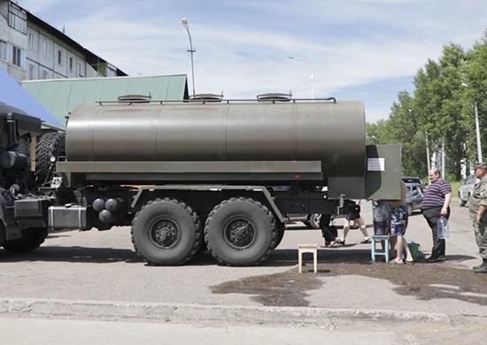 Военнослужащие Центрального военного округа развернули второй передвижной хлебозавод в зоне павод