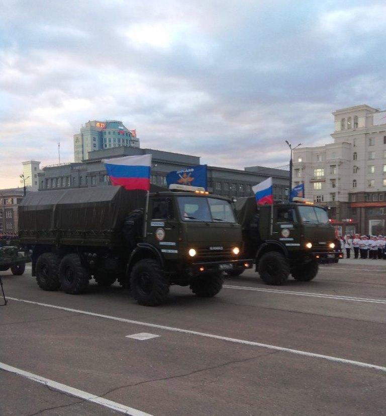 Вечером, 7 мая, в Челябинске на площади Революции состоялась генеральная репетиция торжественного