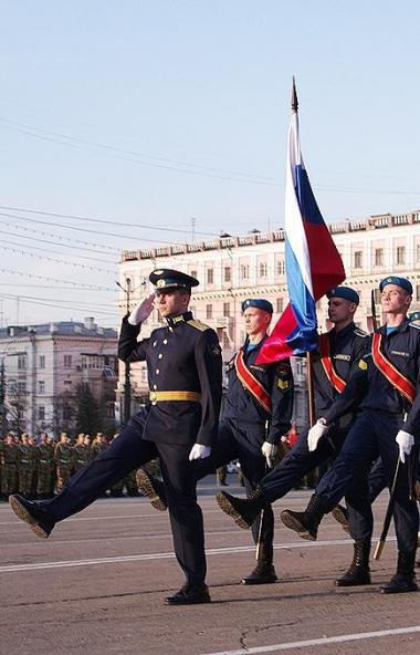 Впервые к торжественному построению челябинского гарнизона в честь 75-й годовщины Победы в Велико