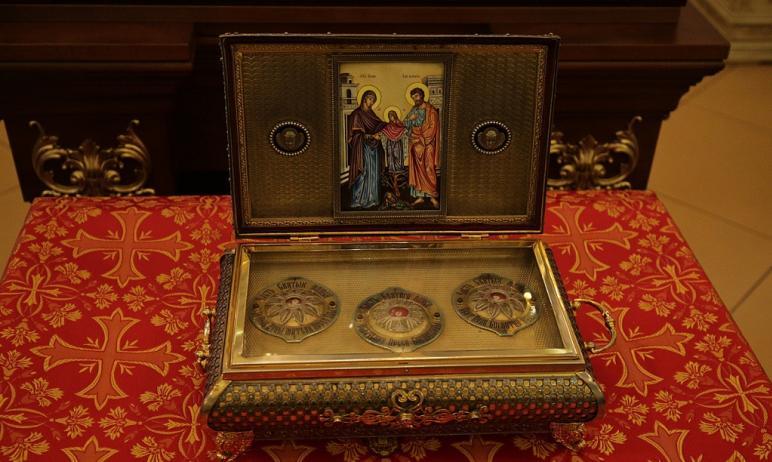 Великая святыня - часть Пояса Пресвятой Богородицы – доставлена в Свято-Симеоновский кафедральный