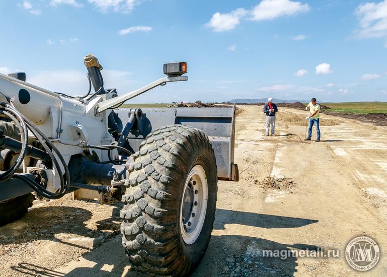 Строительство подъездной дороги от шоссе Южноуральс-Магнитогорск (Челябинская область) к строящем