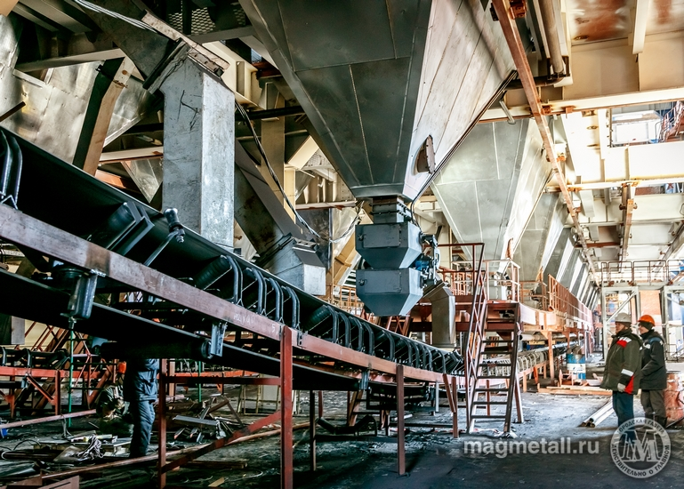 На строящейся аглофабрике №5 Магнитогорского металлургического комбината состоялся рабочий запуск
