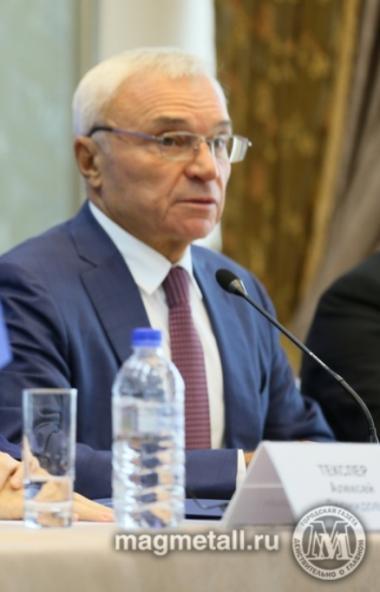 Председатель совета директоров ПАО «ММК» Виктор Рашников, вновь избранный президентом Союза промы