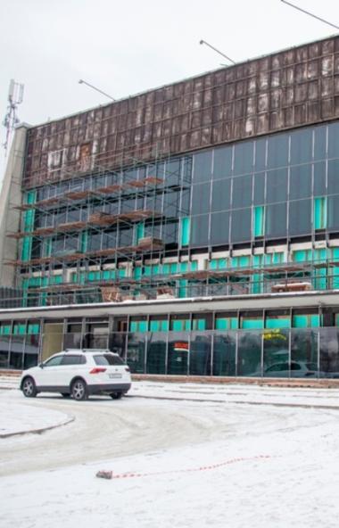 Продолжается капитальный ремонт здания Магнитогорского драматического театра имени А. С. Пушкина.