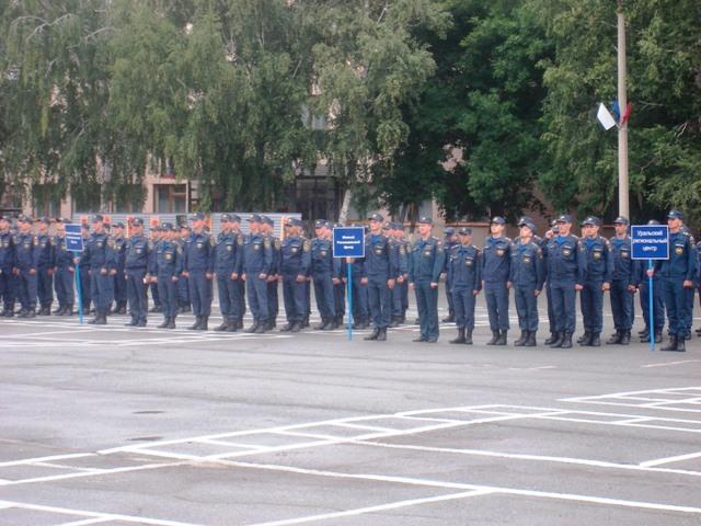 С утра в поселке Новогорном Аргаяшского района на базе 978-го учебного спасательного центра прошл