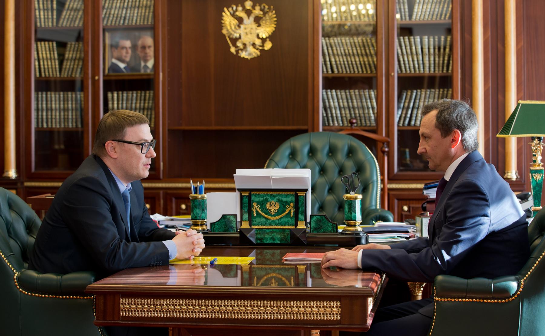 Врио губернатора Челябинской области Алексей Текслер провел рабочую встречу с председателем Челяб