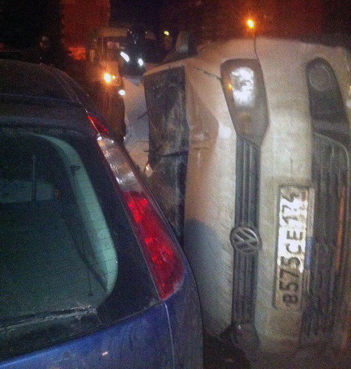 Авария произошла вечером 13 октября на улице Зеленый Лог. «Слышал аварию, выше