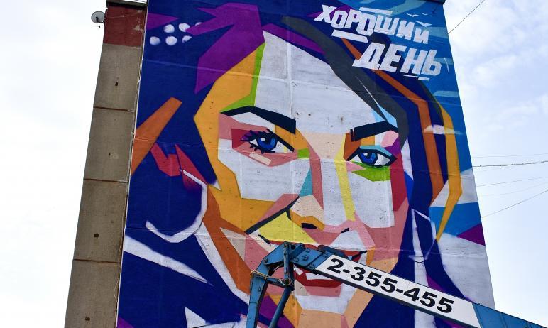 Уже завтра, 11 апреля, в Карабаше (Челябинская область) граффитисты закончат работу над муралом «