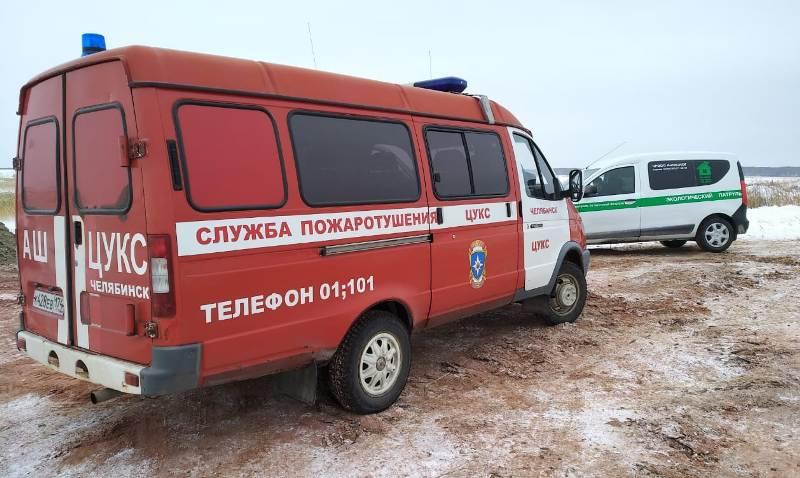 В Челябинской области ситуация с пожарами на озере Курочкино вблизи копейского поселка Старокамыш