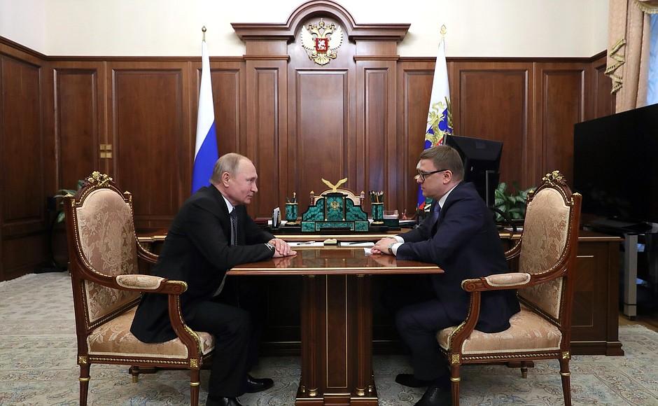 Президент России Владимир Путин встретился с Алексеем Текслером, назначенным временно исполняющим