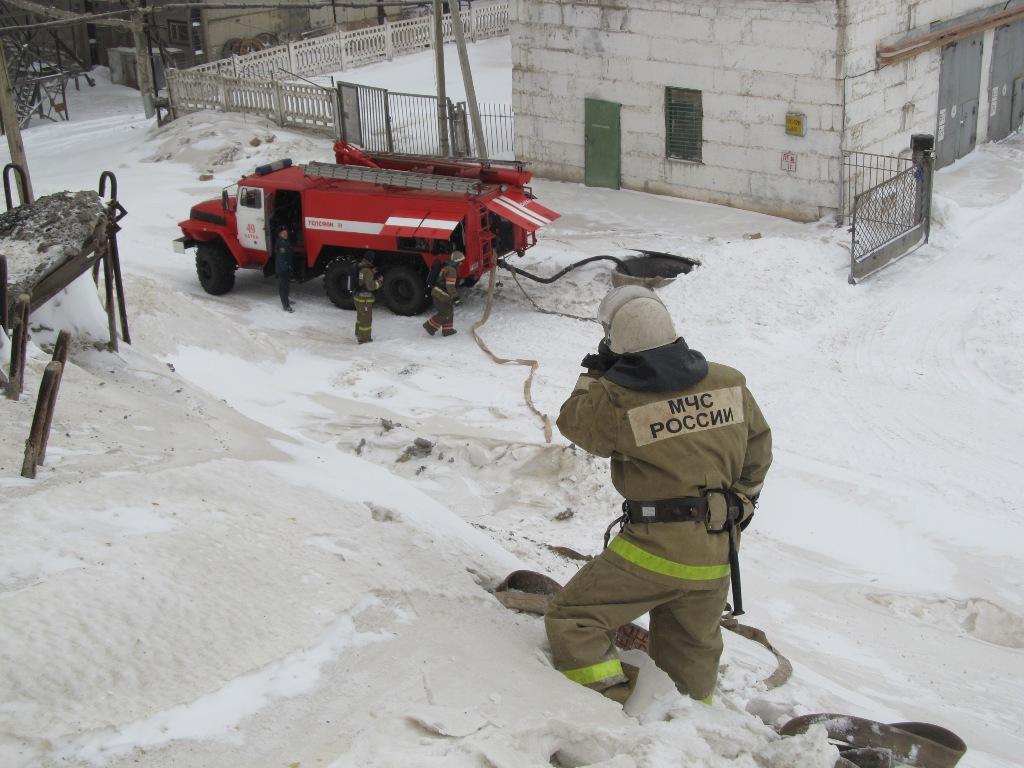 На сообщение о «возгорании» в одном из помещений комбината отреагировали 49-я и 22-я пожарные час