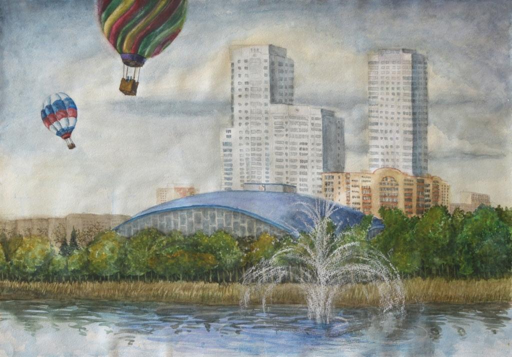Как рассказала Вера Вяткина, в экспозиции представлены детские рисунки ― лучшие работы из методич