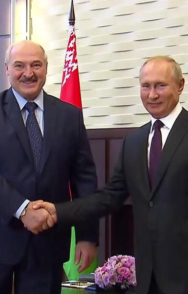 Разговор президента России Владимира Путина и главы Белоруссии Александра Лукашенко с глазу на гл