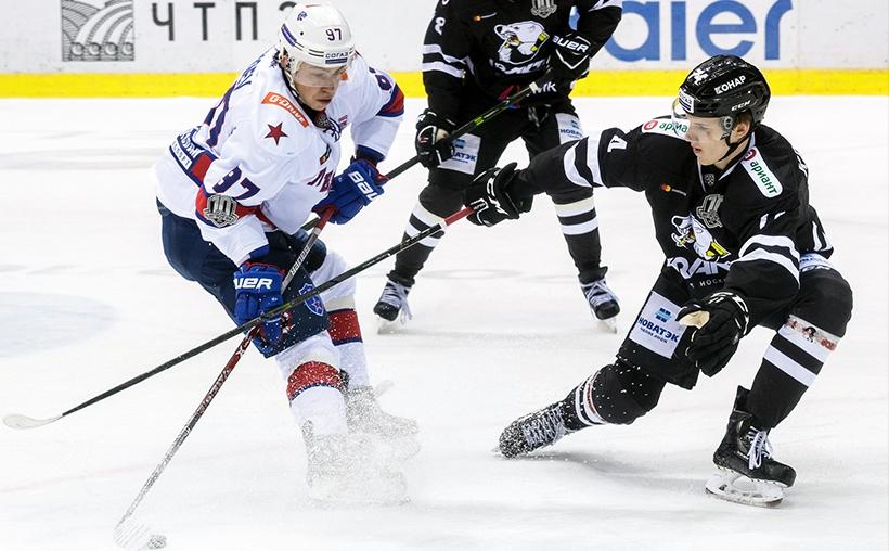 Заключительный матч регулярного чемпионата в Континентальной Хоккейной Лиге челябинский «Трактор»