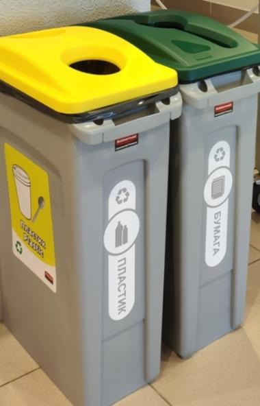 Челябинский «Трактор» призывает болельщиков присоединиться к раздельному сбору мусора. На арене у