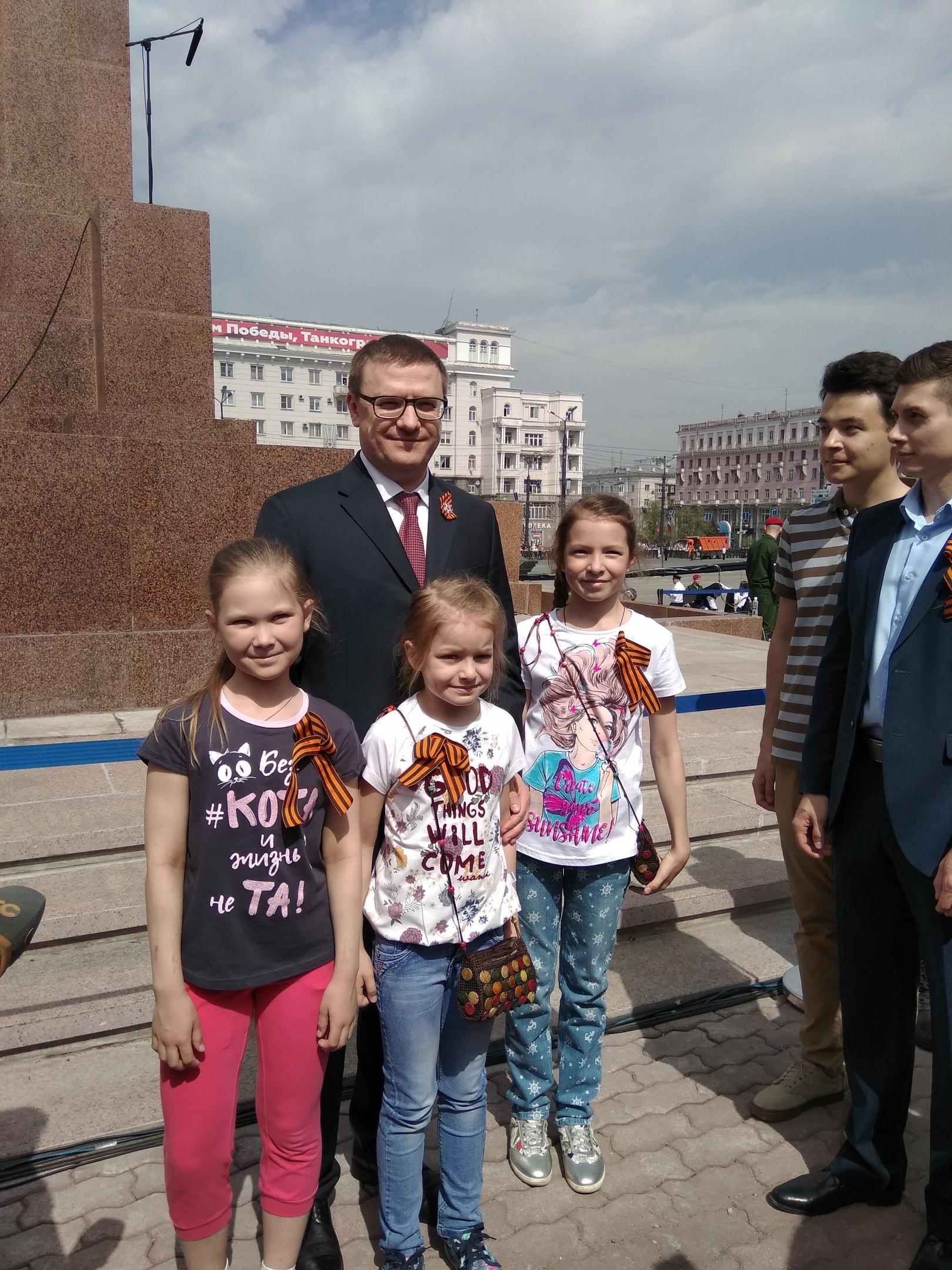 Временно исполняющий обязанности губернатора Челябинской области сразу после торжественного постр