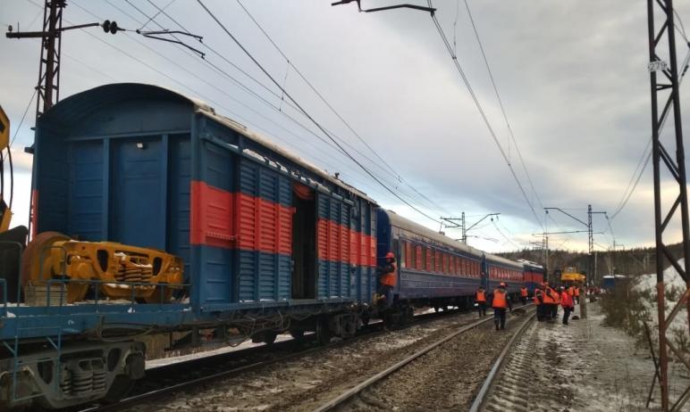 В среду, 17 марта, полностью восстановлено движение поездов на перегоне Сыростан – Хребет Южно-Ур