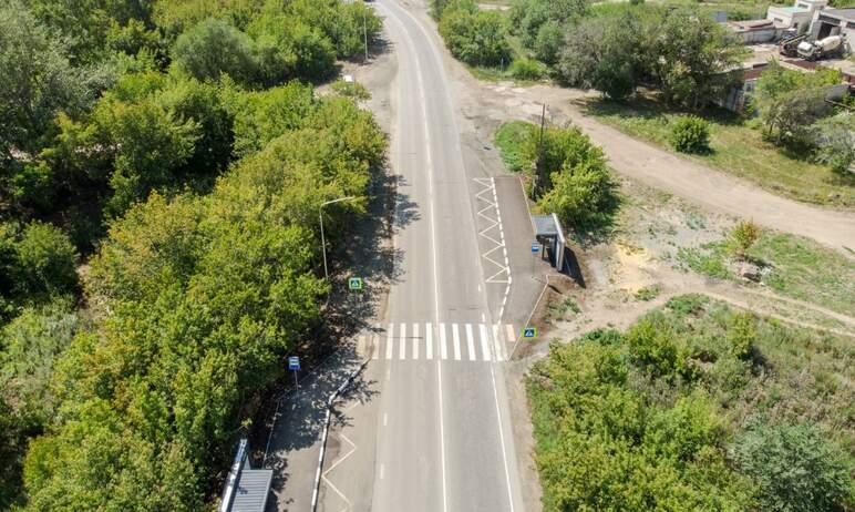 В Челябинске завершен капитальный ремонт автодороги к поселку Новосинеглазово (от Троицкого тракт
