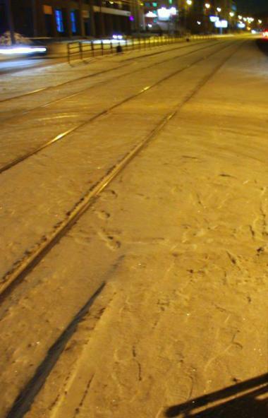 Участок пути, на котором третьего марта произошло ДТПс участием трамвая и легкового автомоб