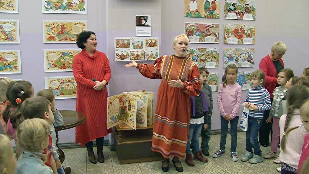 Выставка Елены Хохлович – это радостный, яркий, многоцветный калейдоскоп, который доставит детвор
