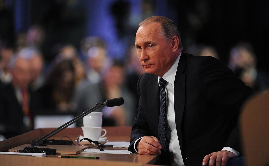 Об этом заявил президент России Владимир Путин на состоявшейся в четверг, 17 декабря, большой пре