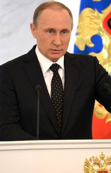Президент РФ Владимир Путин выступил с обращением к россиянам накануне основного