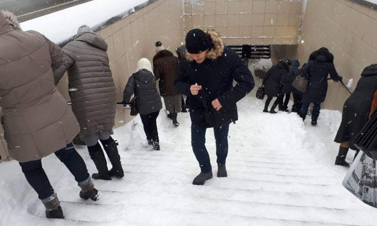 После жалоб горожан подземный переход на пересечении проспекта Ленина и улицы 3-го Интернационала