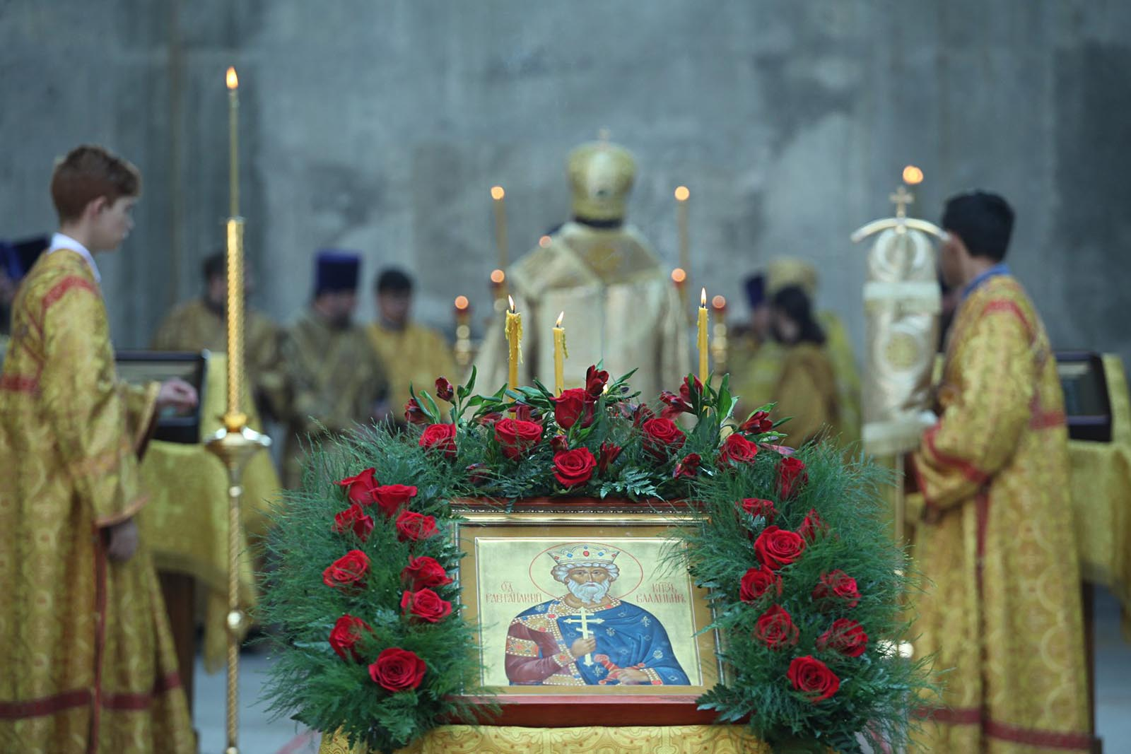 Первая литургия, приуроченная к 1030-летию Крещения Руси, состоялась в субботу, 28 июля 2018 года