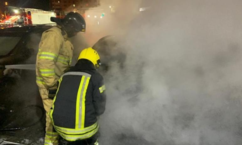 В ночь с 23 на 24 ноября в Челябинске сгорел автомобиль BMW X1 журналиста Znak.com Марины Малково