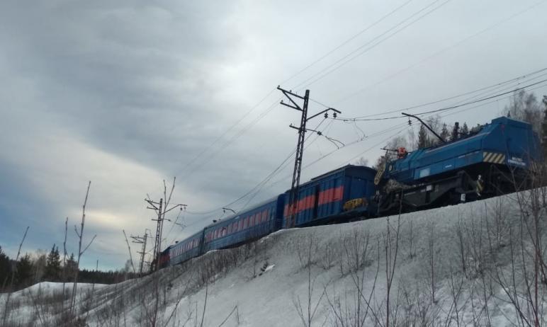 В Челябинской области на перегоне Сыростан-Хребет Южно-Уральской железной дороги, где утром 16 ма