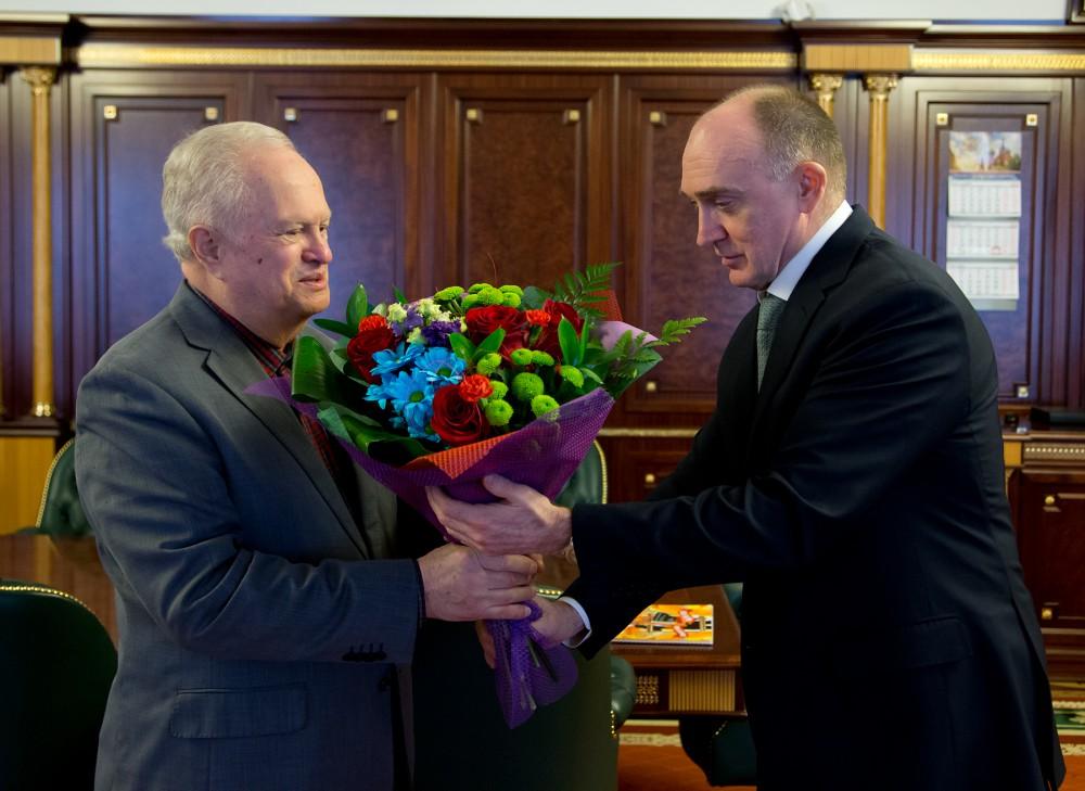 Губернатор Челябинской области Борис Дубровский поздравил с 75-летним юбилеем джазового музыканта