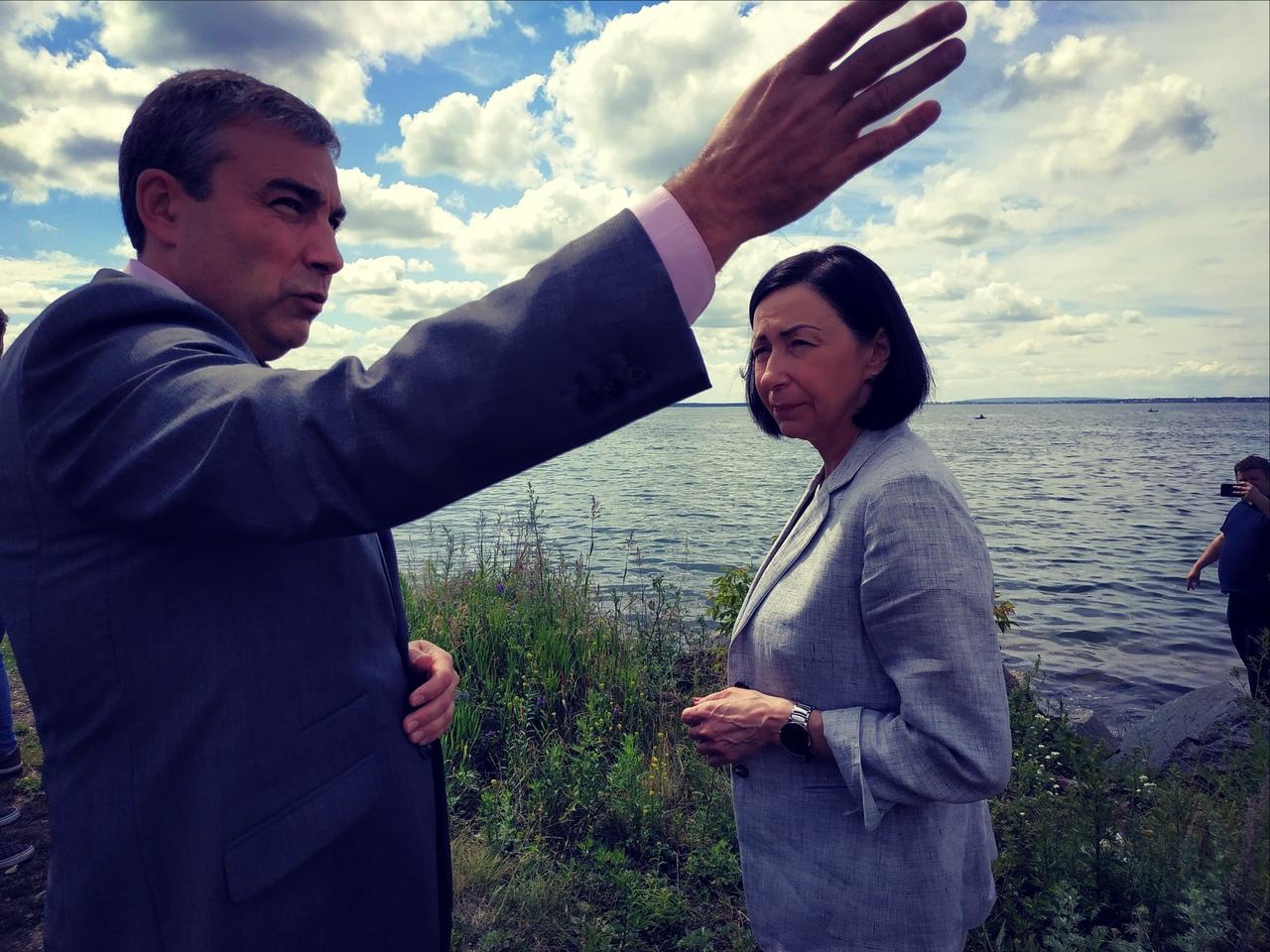 Посещение набережной озера Смолино стало для временно исполняющей обязанности главы Челябинска