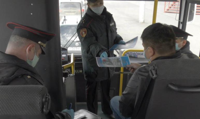 В Челябинске продолжаются проверки общественного транспорта на предмет соблюдения водителями и па