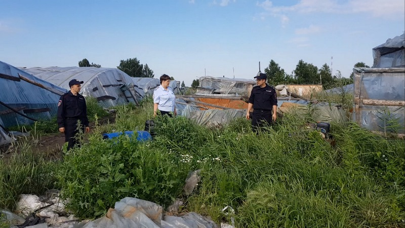 В Челябинской области полицейские обнаружили в теплицах на территории Еткульского района мигранто