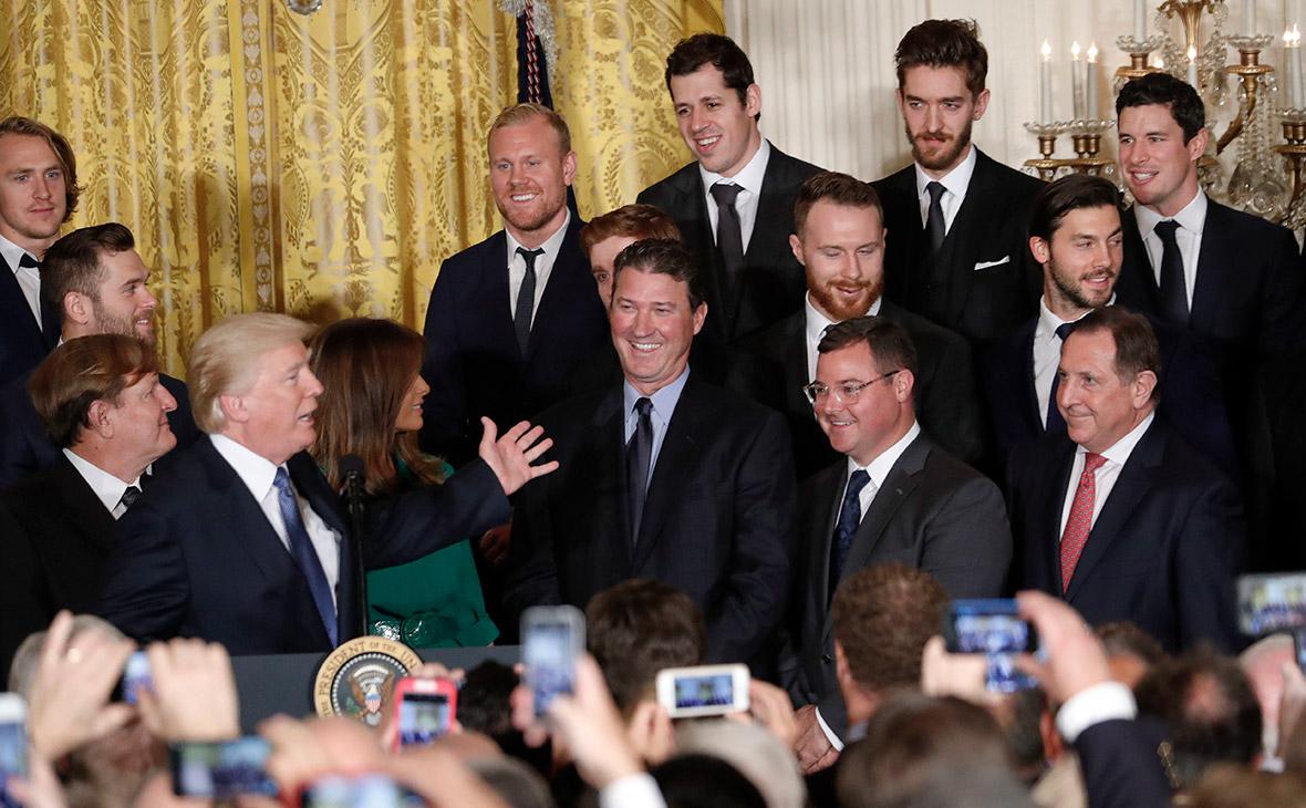 Президент США Дональд Трамп назвал российского хоккеиста «Питтсбург Пингвинс» Евгения Малкина кре
