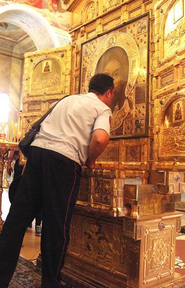 Икона Спаса Нерукотворного, предназначенная для главного храма министерства обороны РФ, была дост