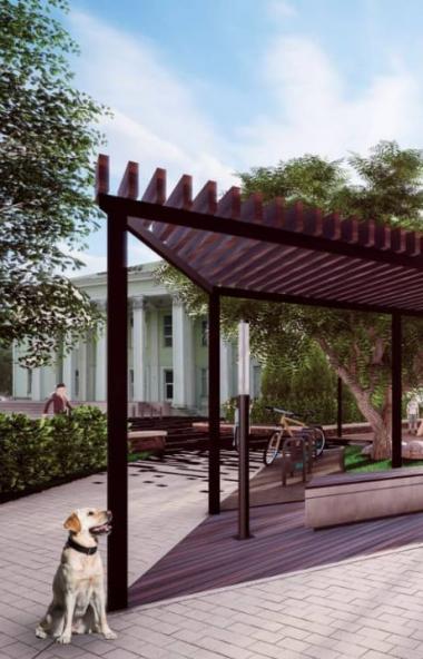 Сквер у дворца культуры строителей в Металлургическом районе Челябинска архитекторы превратят в ч