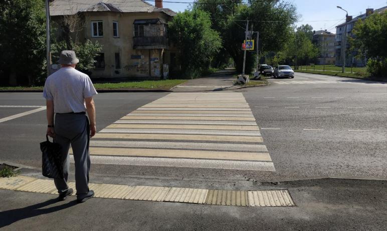 В Челябинске представители общества слепых сегодня, 19-го июля, проверили качество обустройства т