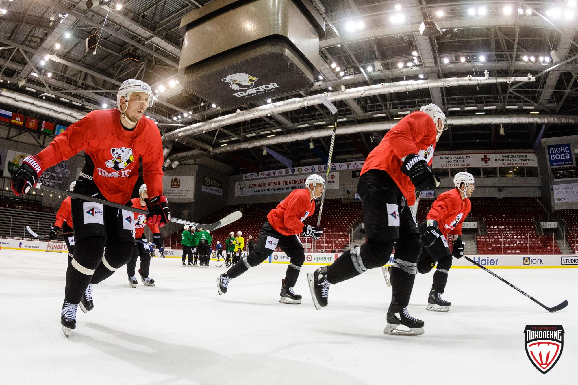 Челябинский ХК «Трактор» использует паузу в КХЛ, связанную с матчами сборной России на этапе Евро