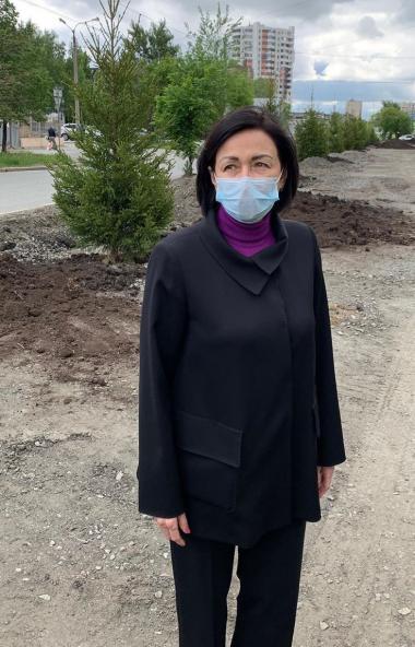Глава Челябинска Наталья Котова назвала работы по озеленению, начавшиеся в областном центре в это