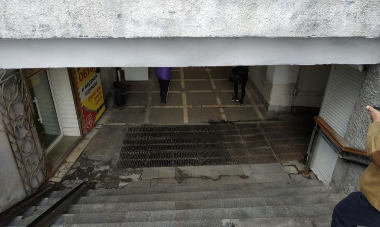 В Челябинске по материалам прокурорской проверки подземного перехода возле автовокзала «Северные