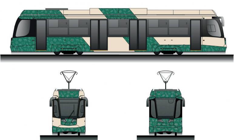 Борта 30 новых трамваев, которые начнут в этом году курсировать в Челябинске, будут украшены уник