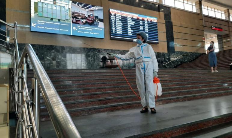 В связи с неблагоприятной эпидемической ситуацией на вокзалах Южно-Уральской железной дороги прод
