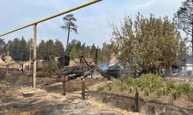 В Карталинском районе Челябинской области в результате ландшафтных пожаров уничтожен огнем 61 жил