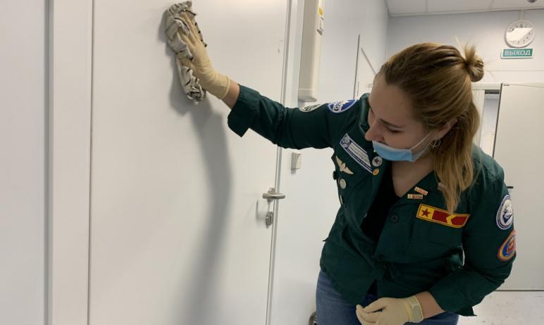 Студенты-медики Челябинской области, проходящие практику в больницах региона в условиях распростр